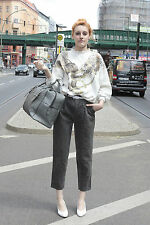 Michel Adam Donna Maglione 40 42 SWEATER ORO BIANCO 90er True Vintage 90s caldo