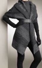 VINCE Black Grey Slouchy Cardigan Sweater Wool/Cashmere/ Alpaca Hood Pockets M