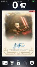 Topps Star Wars Digital Card Trader Galactic Heritage TLJ Asajj Signature