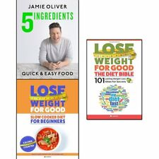 Jamie Oliver 5 ingredients, Slow Cooker Diet and Diet Bible 3 Books Set Pack NEW