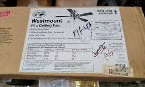 Hampton Bay 44 in. Westmount 3-Lights Ceiling Fan ( Bronze and Brushed Nickel )