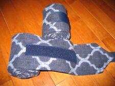 New set of 2 navy/light blue print horse polo wraps (horse/pony leg wraps)