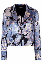 Viscose Floral Button Coats & Jackets Blazer for Women