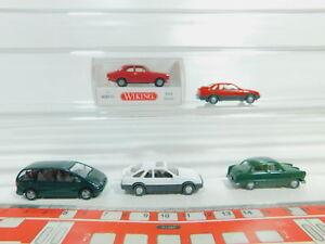 BO613-0, 5 #5x wiking H0 / 1:87 Car Ford: 0203 Escort+Sierra+12M Etc, Mint + 1x