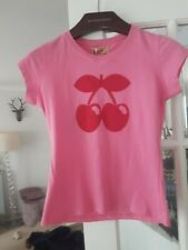 BNWT PACHA IBIZA SIZE SMALL BRIGHT PINK WITH RED CHERRY FITTED TOP/T-SHIRT*L@@K