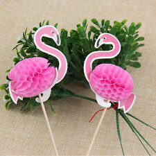 2pcs Lively Flamingo Sticks Cupcake Topper Picks Birthday Party Cake Decor NEW