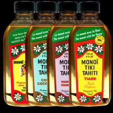 4 MONOI TIKI TAHITI AVEC FLEUR 120ML DONT 1 GRATUIT HUILE MONOÏ 4 PARFUMS