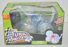 Mindscope Turbo Twister RC Remote Control Stunt Car Lights Blue NEW