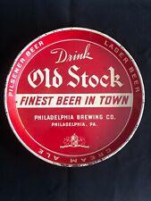 Old Stock Lager Pilsener Tray - Philadelphia Brewing, Pa