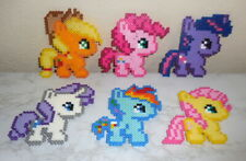: Handmade Perler Bead Art ~ My Little Pony magnet set of 6 you choose :