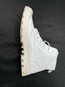 Palladium Men's Pampa White LEATHER Boot US 12 EUR 45 46 VGC
