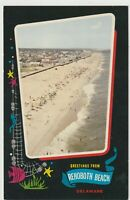 Postcard DE Greetings From Rehoboth Beach Delaware Unposted Rare Card!