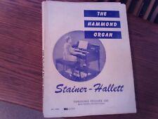 Stainer - Hallett: The Hammond Organ, Method, Organ (Presser)