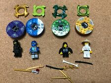 LEGO Ninjago Minifig & Spinner Lot of 4 Ninjas Crowns Golden Weapons Lot B518B