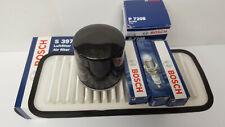 Toyota Aygo 1.0 998cc Bosch Oil Air Filter Spark Plugs Service Kit 2005-2013