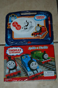 THOMAS & FRIENDS STORYBOOK & MAGNETIC DRAWING KIT WITH MAGNETIC PEN - BNIP