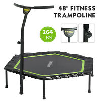 """48"""" Foldable Mini Fitness Trampoline Rebounder Workout Exercise Indoor Outdoor"""