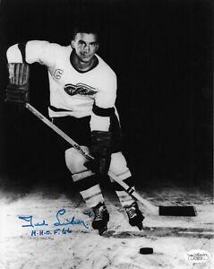 Ted Lindsay Signed 8x10 Photo Autographed JSA COA Detroit Red Wings HOF