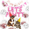 Gift Supplies Birthday Party Decoration Pet Dogs Cats Props Balloons LETS PAWTY