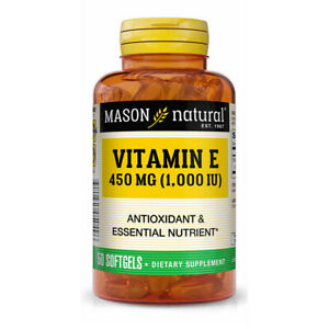 Vitamin E-1000 IU Skin and Immune 50 Softgels dl-alpha tocopheryl Mason