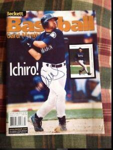 Ichiro Suzuki Signed Autographed Beckett Magazine Rookie Signature Seattle