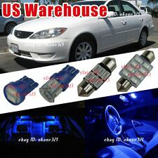 12-pc Pure Blue LED Light Interior Bulbs Package Kit For 2002-2006 Toyota Camry