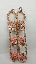 Vintage Shell Art handmade Sea shell + Pottery art wall hangings woven