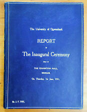 The University of Queensland. Report of the Inaugural Ceremony... 1911.