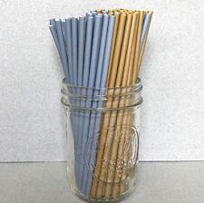 "6"" Plastic Silver & Gold Cake Pop Sticks, 6"" Lollipop Sticks, 6"" Sucker Sticks"