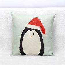 Home Decoration Cotton Linen Christmas Santa Gift Cushion Cover tsd Pillow Sofa