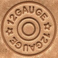 Craftmater's Shotgun Shell, 3-D Stamp Stamping Tool, Leather Craft Craft Tool
