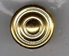 Pickelhauben-Schraubrosetten,30 mm gross,Messing,1 Paar