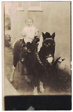 Vintage Photo of Cute Little Boy on Shetland Pony printed on blank back