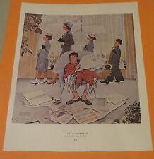 Norman Rockwell EASTER MORNING & THE GRADUATE 1959 Original Book Pressing Print