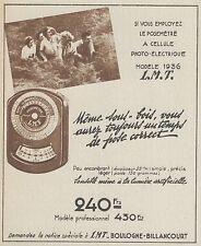 Z9935 Posemètre a cellule photo-électrique LMT -  Pubblicità d'epoca - 1937 Ad