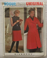 Vintage Coat Sewing Pattern*Vogue 2589*Size 8*UNCUT Paris Original*Givenchy*60s