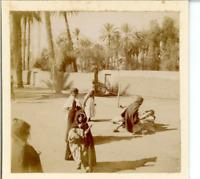 Algérie, Laghouat, Des Enfants Vintage print. Tirage citrate  7x8  Circa 1