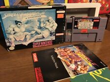 Street Fighter II: Turbo (Super Nintendo, 1993) Rental Copy Box Game Manual Snes