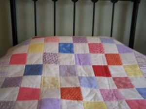 CHARM PACKS OF  64 5 INCH SQUARES, 32 PATTERNED 32 WHITE, 9 COLOUR CHOICES