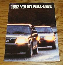 Original 1992 Volvo Full Line Sales Brochure 92 240 850 940 960