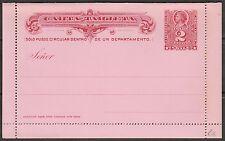 Chile  1895 Postal Stationery - Carta Tarjeta Colon 2c red  mint scarce !!