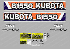 KUBOTA  B1550 HST COMPACT TRACTOR DECAL STICKER
