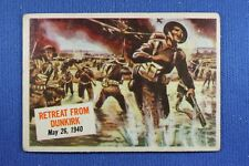 1954 Topps Scoop - #24 Retreat From Dunkirk - VG Condition