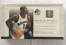 2002-03 Upper Deck SP Authentic Factory Sealed Basketball Hobby Box