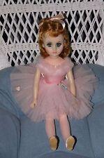 "MADAME ALEXANDER PINK BALLERINA ELISE 17"" auburn hair blue eyes Vinyl Doll USA"