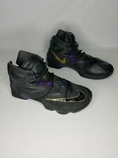 official photos a8b5e c79e6 Nike LeBron 13 XIII Pot of Gold Black Purple Basketball Shoes 807219-007  Mens 13