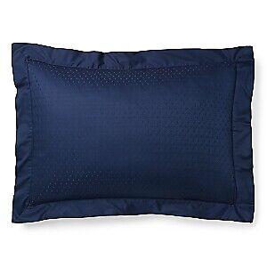 Ralph Lauren Bedford Jacquard 100% Cotton Pillow Sham - STANDARD - Highland Navy