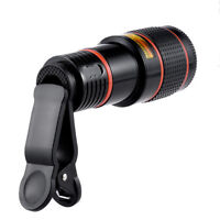 HD 8x Optical Zoom Clip on Camera Lens Phone Telescope For Universal Cell WQZY