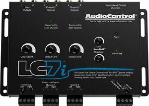AUDIO CONTROL LC7i / 6 CHANNEL LINE OUT CONVERTER w/ AccuBASS  BLACK Warranty