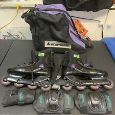 RollerBlades Bravoblade GL Black Roller inline Skate Size 10.5/11 With Bag/pads!